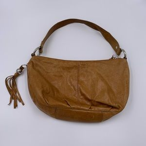 Hobo Genuine Leather Shoulder Bag Purse Damask